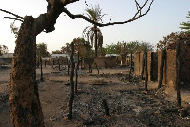 Central African Republic of a deserted village - photo by UNICEF