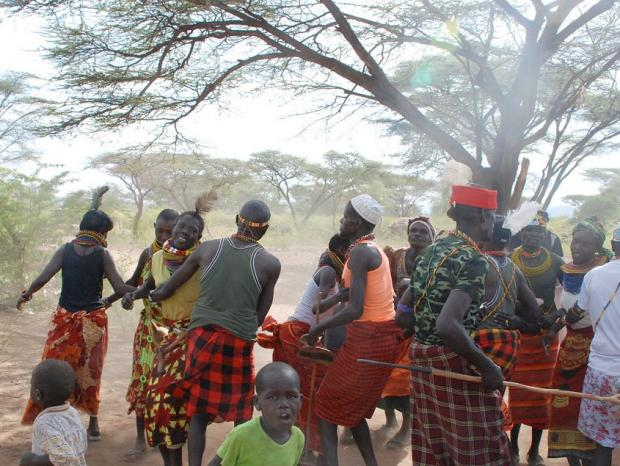 A Turkana community featured in the Bonus Feature 'Two years later'