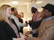 Imam Ashafa and Pastor Wuye with graduate students at St Paul University, Ottawa