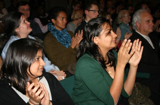 Members of the audience at the Royal Society of Arts