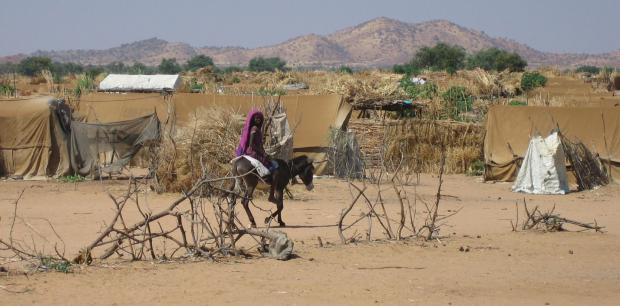 Refugee camp in eastern Chad, bordering Darfur.  