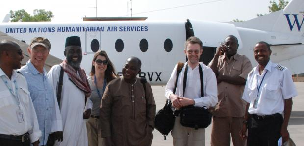 The UN project team in Moundou, southern Chad