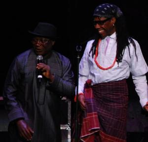 Pastor James Wuye and Nile Rodgers at the We Are Family Foundation 10th anniversary award ceremony (Photo: Alan Channer)
