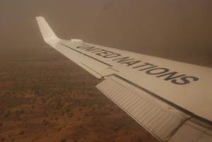 The team travelled on UN flights from the capital, Ndjamena, to eastern and southern Chad (Photo: Alan Channer)